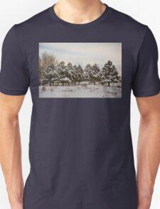 Snowy Winter Pine Trees T-Shirt