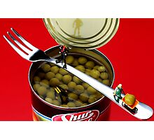 Salvaging Sweet Beans Photographic Print
