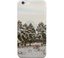 Snowy Winter Pine Trees iPhone Case/Skin