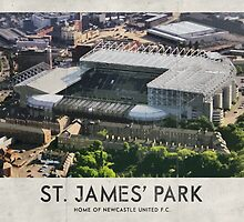 Vintage Football Grounds - St James' Park (Newcastle United FC) by twelfthman