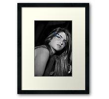 Farfalla Blu Framed Print