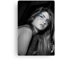 Farfalla Blu Canvas Print