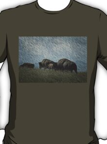 Family of Bison On the Range T-Shirt