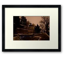 It was a cold and lonely night Framed Print