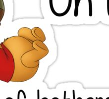Winnie the Pooh - Out of Bothers Sticker