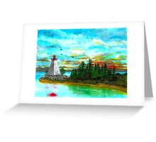 Kidston Island Lighthouse - www.jbjon.com Greeting Card