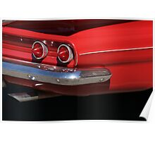 cherry red chevy Poster