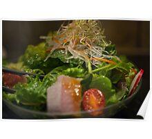 Sashimi salad with Miso dressing Poster