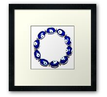A bracelet with magic eyes used to ward off the evil eye and spirits Framed Print