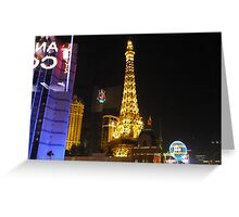 REFLECTIONS OF SIN CITY Greeting Card