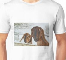 Goats in the snow  Unisex T-Shirt
