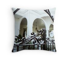 Meeting Street Snow, Charleston, SC Throw Pillow