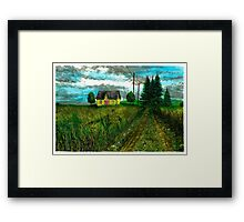 The Yellow Farmhouse - www.jbjon.com Framed Print