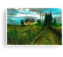 The Yellow Farmhouse - www.jbjon.com Canvas Print