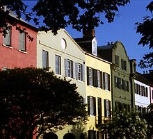 Rainbow Row No. 1, Charleston, SC by Benjamin Padgett