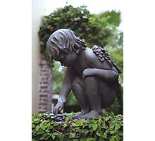 Charleston Garden Angel Photographic Print