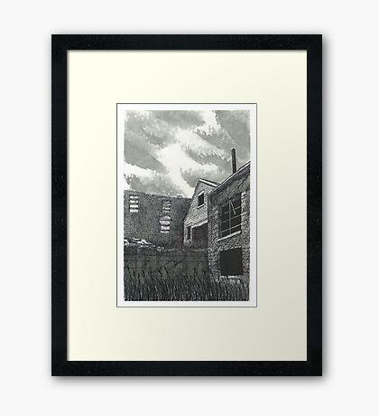Abandoned Barber Paper Mill Factory - www.jbjon.com Framed Print