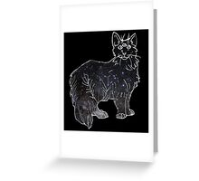 starfield psychic cat [1] Greeting Card