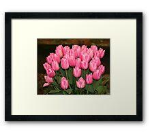 """Pink Tulips"" Framed Print"