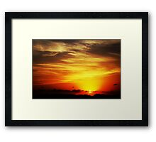 Night Decent 2 Framed Print