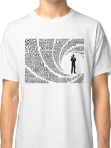 Iconic James Bond Typography Art Classic T-Shirt