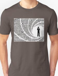 Iconic James Bond Typography Art T-Shirt