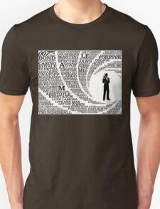 Iconic James Bond Typography Art T-Shirt