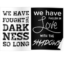 Valentine Morgenstern quote - The Mortal Instruments Poster