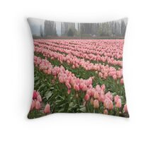 """Tulip Fields"" Throw Pillow"