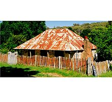 Original house from the Gold Rush at Hill End NSW Photographic Print