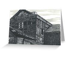 Abandoned Creepy House - www.jbjon.com Greeting Card