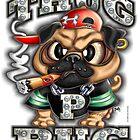 Thug Pug (Gangsta) by LinkArtworks