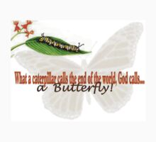 What a caterpillar calls the end of the world, God calls a butterfly! by Mooreky5