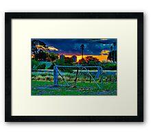 """At The Farm Gate"" Framed Print"