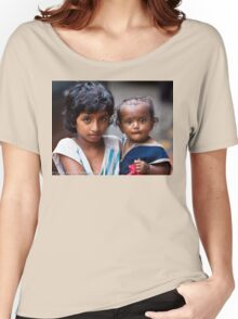 Little Girl With Baby Sister Women's Relaxed Fit T-Shirt