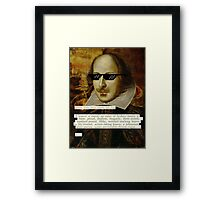 Don't Mess With Shakespeare  Framed Print