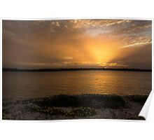 Soft Rays Sunset Poster