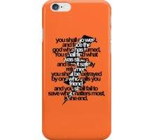 Percy Jackson And the Olympians The Lightning Thief Prophecy iPhone Case/Skin