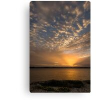 Soft Cloudy Sunset Canvas Print