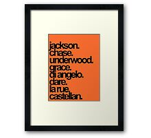 Percy Jackson And the Olympians characters Framed Print