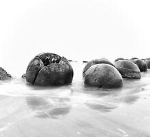 The Moeraki Boulders by Paul Alsop