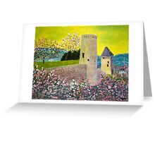 Landscape with fortress Tower Greeting Card
