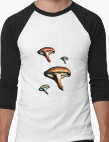 Mushrooms? Mushrooms. Men's Baseball ¾ T-Shirt