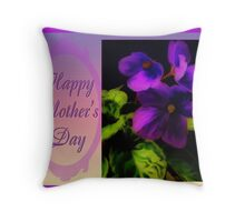 Viola Greeting Throw Pillow