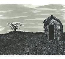 Lonely Outhouse - www.jbjon.com by Jonathan Baldock
