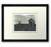 Lonely Outhouse - www.jbjon.com Framed Print