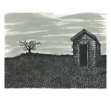 Lonely Outhouse - www.jbjon.com Photographic Print