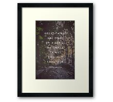 Great Things are Done by a Series of Small Things Brought Together Framed Print