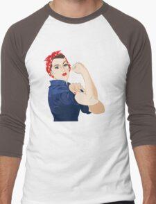 Rosie Riveter Men's Baseball ¾ T-Shirt