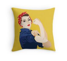 Rosie Riveter Throw Pillow